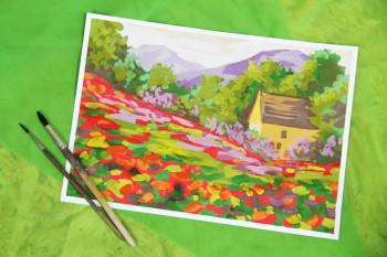 Рисуем горный пейзаж своими руками: мастер-класс от тагильской художницы