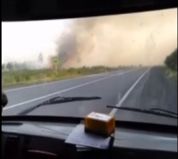 Серовский тракт в районе Верхотурья накрыла дымовая завеса от лесных пожаров