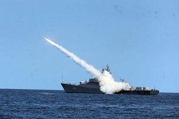 Российские военные корабли обстреляли Сирию