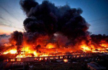 Крупнейший за 25 лет пожар в Москве тушили пять часов