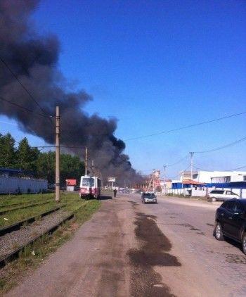 В Нижнем Тагиле крупный пожар