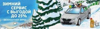 Зимний сервис SKODA с выгодой до 25%!