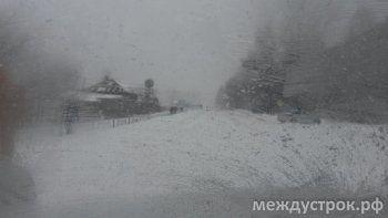 В снежном плену. Онлайн-репортаж о ситуации на дорогах Свердловской области