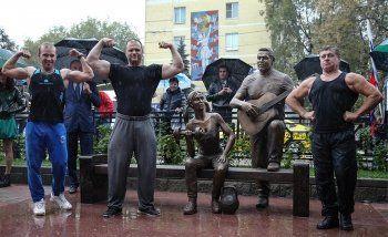 В Люберцах появился памятник группе «Любэ»