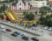 В Екатеринбурге внедорожник врезался в батут с детьми (ВИДЕО)