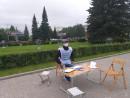 В Нижнем Тагиле полиция потребовала от сборщиков подписей за прямые выборы мэра разобрать агитационный куб на Театральной площади (ВИДЕО)