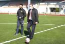 Владислав Пинаев нанёс первый удар по мячу на церемонии открытия стадиона «Спутник» после реконструкции